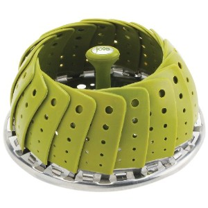 Joie Collapsible Vegetable Steamer Basket, Silicone Coated Stainless Steel, Adjustable, Expands to...