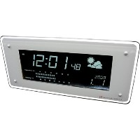 HOUSE USE PRODUCTS(ハウスユーズプロダクツ) LCD表示 電波置き掛け時計 LCD-RADIO-CLOCK FUZE WHITE ACL070 [正規代理店品]