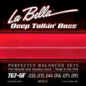 La Bella 767-6F/BassⅥ/026-095/Flat Wound With Stainless Steel Made in the USA