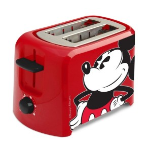 Disney DCM-21 Mickey Mouse 2 Slice Toaster, Red/Black by Disney