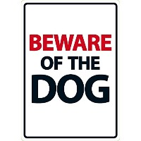 Beware Of The Dog A5 Sign