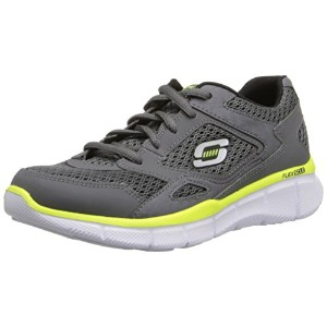 Skechers キッズ 95515L Equalizer スニーカー ,Charcoal/Yellow,1.5 M US リトル キッド (海外取寄せ品)