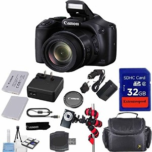 Canon Powershot SX530 HS 16.0 MP デジタル Camera with 50x Zoom, Wi-Fi & 1080p Full HD ビデオ + エクストラ バッテリー...
