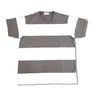 RHC Ron Herman (ロンハーマン): Chillax Border Tee (Gray)【オススメ】