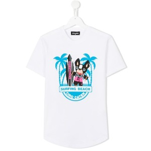 Dsquared2 Kids - Surfing Beach Tシャツ - kids - コットン - 16 yrs