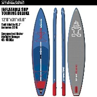 """SUP インフレータブル SUP 12'6""""x31"""" ツーリング デラックス STARBOARD INFLATABLE SUP TOURING DELUXE 12'6""""x31"""" 2017 サップ S..."""