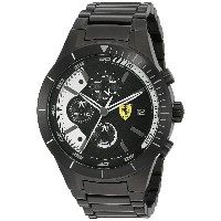 フェラーリ Ferrari Men's 0830267 REDREV EVO Analog Display Japanese Quartz Black Watch [並行輸入品]