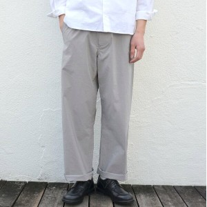 AURALEE(オーラリー)/ SELVEDGE WEATHER CLOTH EASY PANTS -GRAY STRIPE-