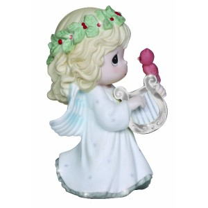Precious Moments Annual Angel with Harp Figurine [並行輸入品]