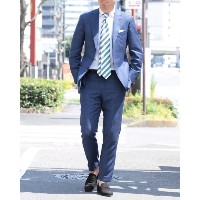 ISAIA(イザイア) ラナウール140'S ネイビーチェックスーツ【GREGORY SUITS / TIMELESS】