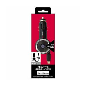 NISSAN 公式ライセンス品 NISMO REEL TYPE CAR CHARGER FOR IPHONE BLACK NMMDJ-R1BK 【RCP】【AS】送料込みで販売!