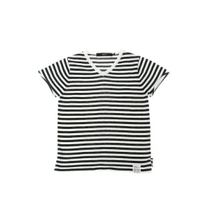 AZUL by moussy DRY MIX ボーダーニットVネック半袖プルオーバー アズールバイマウジー【送料無料】