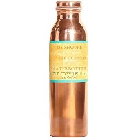 100% Pure Copper Ayurvedic Water Bottle - Leak-Proof Seal Cap - 18 Ounce 550mL by PureCopper