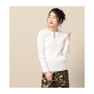 BY リブレースアップロングスリーブカットソー【ビューティアンドユース ユナイテッドアローズ/BEAUTY&YOUTH UNITED ARROWS Tシャツ・カットソー】