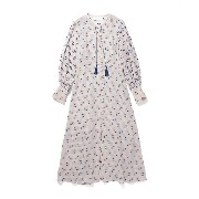 <mame(マメ)> Flower Motif Jacquard Long Sleeves Dress(MM17SSーDR044) ベージュ レディースウエア~~ワンピース