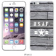 JILLS PRODUCTS-正規品 apple iPhone6 ケース iPhone6S ケース apple アイフォン6 クリア ウッド調 木目調 USAF AIR FORCE アメリカ海軍...