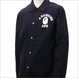 A BATHING APE (エイプ) COLLEGE COACH JACKET (コーチジャケット) BLACK 1D30-140-015 225-000297-051-【新品】