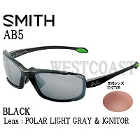 SMITH(スミス) AB5 BLACK 【レンズ】POLAR LIGHT GRAY&IGNITOR 240010001サングラス