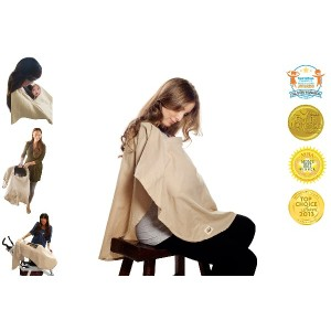 Poncho Baby Nursing Cover, Oval Beige by Poncho Baby