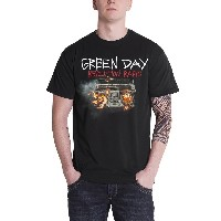 Green Day T Shirt Revolution Radio Album Cover band logo 公式 メンズ ブラック