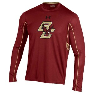 アンダーアーマー メンズ トップス Tシャツ【Under Armour College Limitless Performance L/S T-Shirt】Cardinal
