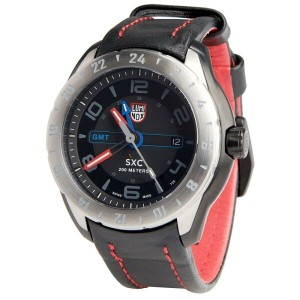 ルミノックス Luminox メンズ アクセサリー 腕時計【SXC Aerospace Watch - Leather Band】Black/Black/Red