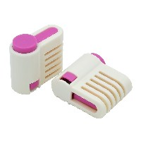 2PCS DIY Cake Slicer , Stratification Auxiliary , Bread Slice , Toast Cut, 5 Layers Leveler Slicer ...