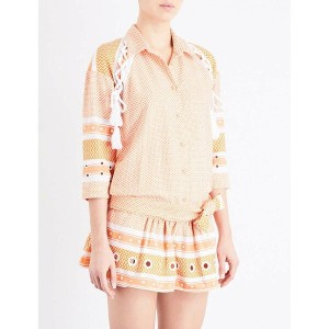 ドド バー オア dodo bar or レディース トップス ジャンプスーツ【eviyatar embellished cotton-jacquard playsuit】Orange/white