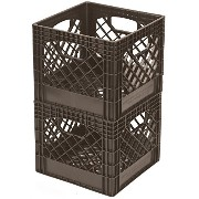 Buddeez MC01016BRN7533 Milk Crates, 16-Quart, Brown, 2-Pack by Buddeez, Inc. [並行輸入品]