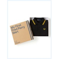 FRED PERRY(フレッドペリー)/キッズラインポロシャツ(My First Fred Perry Shirt) Black