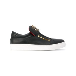 Cesare Paciotti Kids - Teen laceless sneakers - kids - ゴートスキン/レザー/rubber - 39