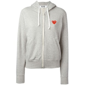Comme Des Garçons Play - embroidered logo hoodie - women - コットン - XS