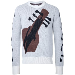 The Soloist - guitar intarsia jumper - men - カシミア - 44