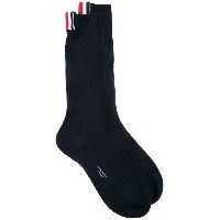 Thom Browne - ribbed socks - women - コットン - ワンサイズ
