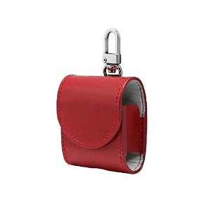 airpods ケース カバー 本革 (RED)【HANSMARE ITALY LEATHER AIR PODS CASE】収納バッグ ストラップ 収納 バッグ ポーチ キーホルダー 持ち運び...