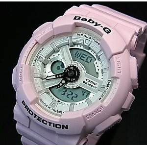 CASIO/Baby-G【カシオ/ベビーG】Beach Colors/ビーチ・カラーズ レディース腕時計 ライトピンク(国内正規品)BA-110BE-4AJF