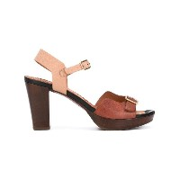 Chie Mihara - contrast sandals - women - ウッド/レザー - 37