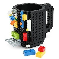 Build-on Brick Mug Lego Type Building Blocks Coffee Cup DIY Block Puzzle Mug 12oz(black) by...