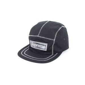Supreme CONTRAST STITCH CAMP CAP キャップ Black [並行輸入品]