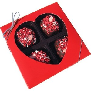 Chocolate Dipped Rice Krispie?Treat Gift Box for Valentine's Day, Dark Chocolate by Olde Naples...