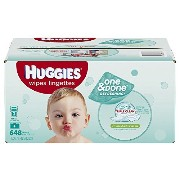 Huggies One and Done Refreshing Baby Wipes Refill, Cucumber and Green Tea, 648 Count (Packaging may...