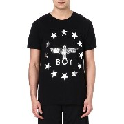 ボーイロンドン boy london メンズ トップス Tシャツ【star-detailed logo t-shirt】Black/silver
