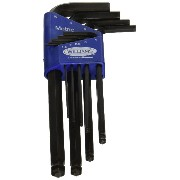 SnapOn 13609 JH Williams Metric Long Ball End Hex Key Set, 9 Piece by Snap-on