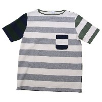 Tieasy AUTHENTIC CLASSIC(ティージィ オーセンティッククラシック) HDCS Pocket SS Wide Border Boat Neck Shirt Crazy...