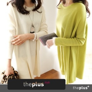 ★theplus★ SuperSale!! ★ High Quality ★ long knit tee / Korean fashion / Basic Style