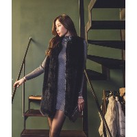 ミンクファーベスト- This is fur vest going well with office look gathering look and daily look. Soft wearing...