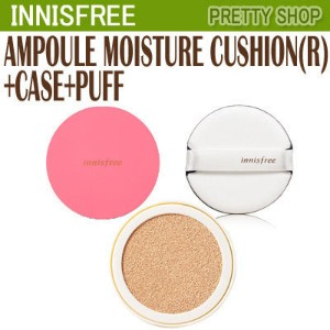 ★Innisfree★ AMPOULE MOISTURE CUSHION(R)+CASE+PUFF アンプルモイスチャークッション