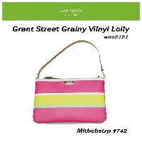ケイトスペード Kate Spade Grant Street Grainy Vinyl Lolly 2way ポーチ WLRU2121