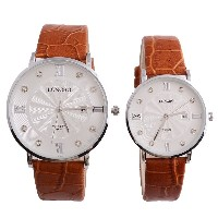 LONGBO 8860a Pair Love Couples Water Resistant Crystal Wrist Watch VJ32 Quarts Movement with Date...