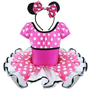 (FEESHOW) FEESHOW Toddler Girls Minnie Mouse Costume Fancy Dress up Ballet Tutu Outfits